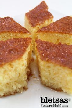 Greek Sweets, Greek Desserts, Greek Recipes, Desserts With Biscuits, Greek Dishes, Sweet And Salty, Cornbread, Vanilla Cake, Kitchens