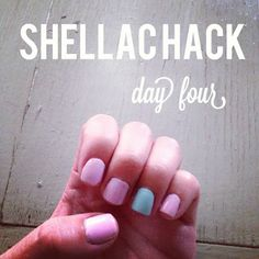 Perfected shellac hack DIY :) maybe I'm not the only one who's cheap and scared of nail bed cancer haha