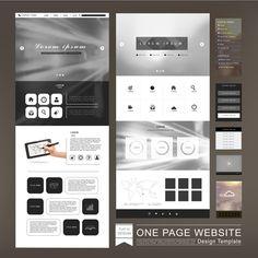 Website page design template vector 04