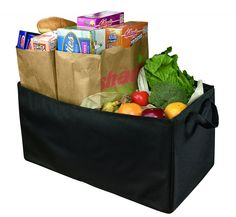 Black Car Trunk Cargo Tote (Would love a couple of these for the back of the SUV)