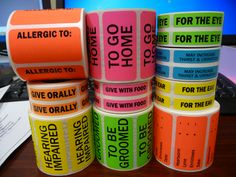 Amazing! Cage & chart labels for veterinarian offices. #labels #veterinay #hospitals