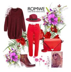 """Red Sweater: Romwe Contest"" by pantarei85 ❤ liked on Polyvore featuring Fabrizio Gianni, Spring Step, Alexander Wang, Bebe and romwe"
