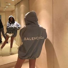 balenciaga hoodie 🌫 uploaded by Maria ♡ on We Heart It Mode Outfits, Casual Outfits, Fashion Outfits, Fashion Killa, Look Fashion, Fashion Mask, 2000s Fashion, Fashion Today, Fashion Goth
