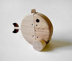 These toys  made of beech wood Jan Hořovský  and he use t he wood from the trees in the  mountains where he lives. Toys have mechanical funn...