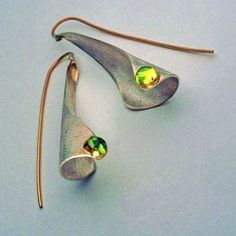 Studio Numen - Green in the Winter earrings