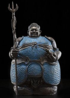 Matteo Pugliese - The Guardians series - bronze 'Guardians' are tall, rounded and weigh several hundred pounds.