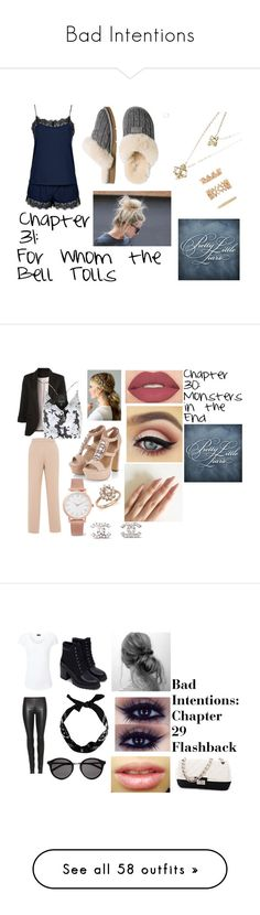 """Bad Intentions"" by xxdreamwalkerxx ❤ liked on Polyvore featuring Topshop, UGG Australia, Forever 21, Rochas, WithChic, Larsson & Jennings, Bloomingdale's, Chanel, Smashbox and Joseph"
