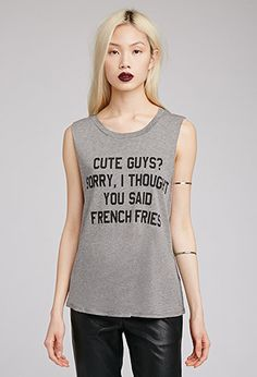 Cute Guys French Fries Tee | FOREVER21 - 2000077290