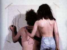 two stage transfer drawing, 1971, dennis oppenheim