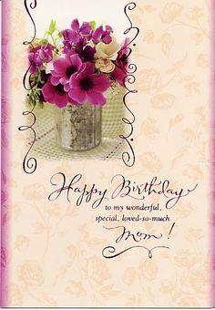 Happy Birthday Mom To My Wonderful Special Loved So