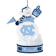 North Carolina Tar Heels LED Snowman Ornament, Multicolor