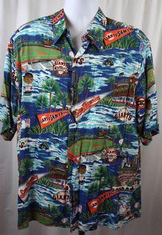 fe3440a29 Reyn Spooner San Francisco Giants 2000 100% Rayon Hawaiian Shirt Size L   sfgiants