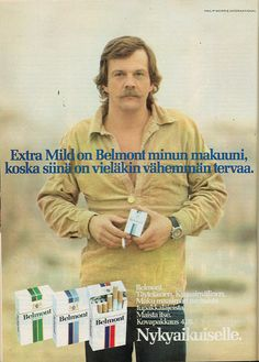 Belmont - 1978 Vintage Cigarette Ads, Good Old Times, Vintage Advertisements, Favorite Tv Shows, Nostalgia, Baseball Cards, Retro, Words