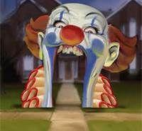 Creepy Carnival Clown entrance facade - Carefully selected by GORGONIA www. Halloween Clown, Gruseliger Clown, Halloween Karneval, Halloween 2020, Holidays Halloween, Halloween Themes, Halloween Crafts, Halloween Decorations, Halloween Entryway