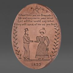 """Good Virginia Within I Have..."" 1833 double-sided engraved snuff box 