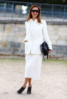 white on: Ece Sukan, Paris #modeststreetwear