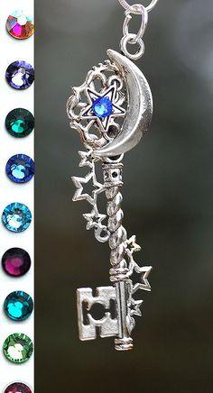 Handmade Galaxy Key Necklace