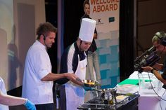 Top Chef Chris Crary participating in Quickfire Challenge.