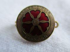 Vintage Ladies Circle Danmark - Denmark Danish Badge