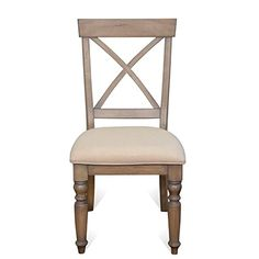 Riverside Aberdeen Dining Chair in Weathered Driftwood (Set of 2)