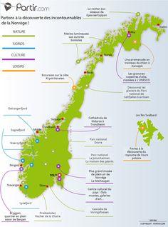 Carte des régions NORVEGE
