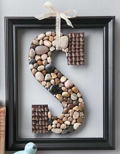 Big embellished letters are a fun way to add personality to home decor or to create unique gifts. Making them is easy with simple craft supplies and innovative do-it-yourself products from Plaid! Decorating Letters includes 13 projects: All You Need Is Lo Earring Display Stands, Necklace Display, Jewellery Display, Diy Letters, Letter A Crafts, Cork Crafts, Easy Crafts, Men Crafts, Stud Earring Organizer