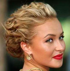 Twists and waves, and flawless makeup. Maybe pretty for Matthew and Annas wedding in October.