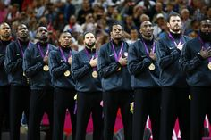 How many of the 2016 #USA #Olympic Basketball Team have won Olympic or FIBA World Cup Golds?