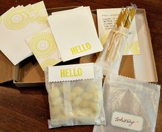 sewn packaging.