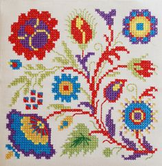 cross stitch flowers | Flickr: Intercambio de fotos