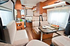 Adria Twin SF motorhome interior, built on a Fiat Ducato van.
