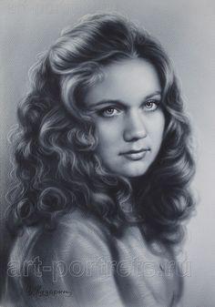 Drawing cute girls by Igor Kazarin Pencil Art Drawings, Cute Drawings, Charcoal Portraits, Hair Shades, Black And White Drawing, Watercolor Sketch, Dry Brushing, Persona, Cute Girls
