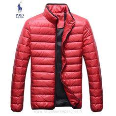 doudoune hommes ralph lauren 2014 qualite occasionnel pas cher populaire 7656 rouge Polo By Ralph Lauren