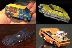 Hot Wheels Scale Printable Movie Vehicles Papercraft