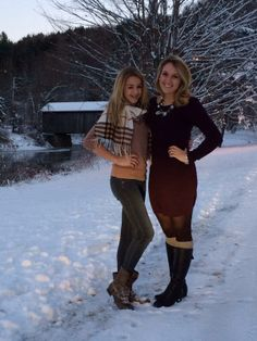 Chloe looks so grown up here & omg that snow is beautiful!