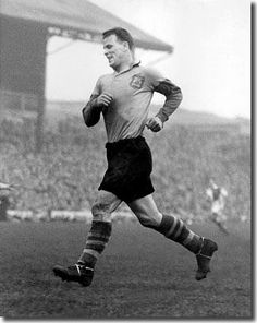 Not a Rover, but the great John Charles (Leeds) at Ewood.