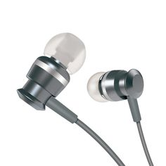 [$3.34] JOYROOM EL122 In-Ear Metal Moving Coil Stereo Earphone with Mic for Xiaomi, iPhone, iPad, iPod, Samsung, HTC, Sony, Huawei and Other Audio Devices with 3.5mm Earphone Ports(Grey)