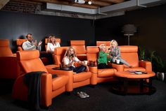Sit back and relax with the Ekornes Stressless Arion cinema group and watch a scary halloween movie! Fine Furniture, Furniture Sale, Dining Furniture, Bedroom Furniture, Home Theater Seating, Sit Back And Relax, Reclining Sofa, Home Entertainment, Interiores Design