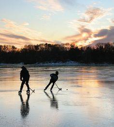 Where it all starts. Bog hockey.