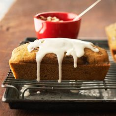 Whip up four mini loaves of gluten-free bread starting with a gluten-free yellow cake mix. Extra spices, nuts, veggies, and a cream cheese icing make every slice truly special./