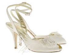 36f7b856fc56 Grace by Freya Rose - classic peep toe with ankle strap customised with a  beautiful handmade duchess silk flower embellished with swarovski crystal