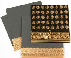 The front fold of the card is beautifully adorned with golden Bismillah symbols. The lower fold of the card, envelope and inserts have elegant golden border. Muslim Wedding Cards, Indian Wedding Cards, Invitation Cards, Invites, Wedding Invitations, Wedding Things, Our Wedding, Bridal Shower, Quotes