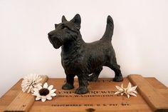 vintage cast iron scottie dog doorstop by BeautifulLine on Etsy