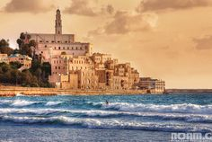 The Crusader's citadel at Yafo harbor - Tel Aviv/Yafo (Jaffa) - Israel. lived just on the other side and I used to walk by here at least three times a-week on the way to and from work, teaching at Bat Dor Dance Company. Tel Aviv, Jaffa Israel, Old Jaffa, Visit Israel, Holy Land, Old City, Urban Landscape, Monument Valley, Alexander The Great