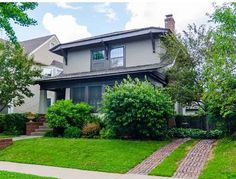 Step back to 1915 and Vintage Detail, it's all here. Beautiful Spaces and Private Yard, Lovely. Beautiful Space, Beautiful Homes, Four Square Homes, Old House Dreams, Craftsman, Woodworking, Real Estate, Yard, Bungalows