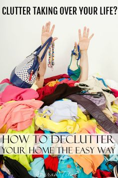 Clutter taking over your life? Get it back under control by following these top tips on how to declutter your home the easy way!