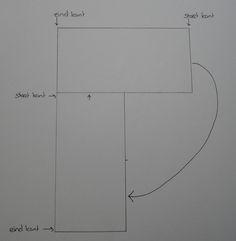 Het patroon om een poncho te breien brei 2 lappen van 50 cm breed en 1 meter lang en maak die op deze manier aan elkaar