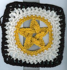 Pentacle Granny by crochetmermaid on Flickr // Free pattern (linked)