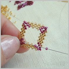 Great picture tutorial, love this project! Diamond shaped rivoli