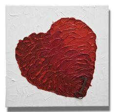 Esta é uma pintura feita pela artista Mel Gama.  Arte espatulada em fundo branco, coração em degradê vermelho e chave antiga sobre o coração.  Peça bem moderna e posso fazer uma pintura semelhante em outros tamanhos a combinar. TÍTULO: A chave DIMENSÕES: 50 x 50 x 3cm (Tela em 3D) MÉDIUM: Acrílico em tela  As laterais também são pintadas e chegarão prontos para exibição.  A simulação da decoração pode não estar com escala correta - é somente para se ter uma ideia.  Todas minhas pinturas são… Custom Paint, Unique Art, My Arts, Traditional, 3d, Create, Painting, Color, Old Keys
